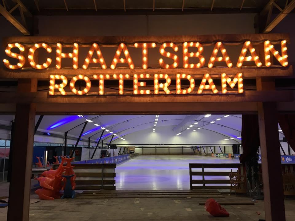 Sfeerverlichting Schaatsbaan Rotterdam