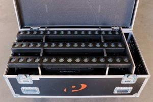 Litecraft PowerBar X.15 LED strip in flightcase bij Peitsman Licht en Geluid
