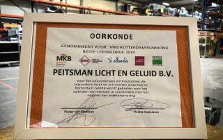 MKB Rotterdam Rijnmond Stagebedrijf 2019 Peitsman Licht en Geluid