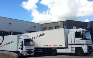 Peitsman Licht en Geluid Rotterdam Utrecht vrachtwagens